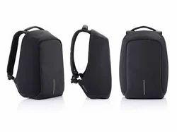 Black Anti Theft Smart Backpack