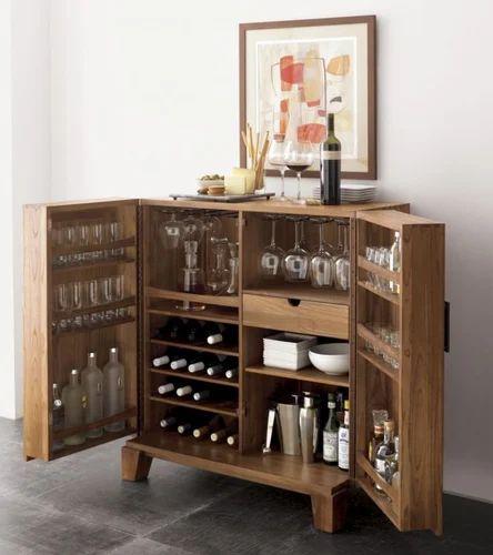 Teak Wooden Bar Cabinet At Rs 24000 Piece S Khar Danda Mumbai