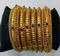 6pc Gold Plated Bangles