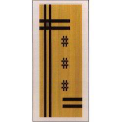 Veneer Grooved PVC Flush Door
