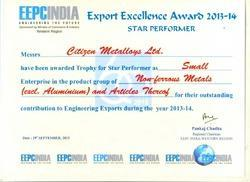 Star Performer For Highest Export 2013-14 Eepc India