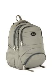 Grey Polyester School Backpack