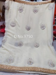 White Party wear saree