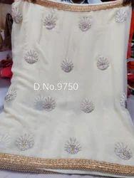 White Party wear saree
