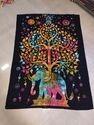 Tree & Elephant Design Mandala Tapestry