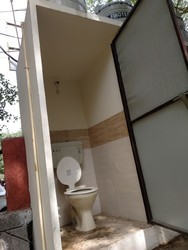 Concrete Blocks Toilet