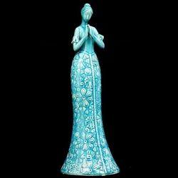 Ceramic Sky Blue Modern Artefact