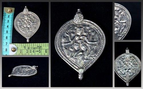 Vintage silver amulet pendant india god deity figure g10 7 chandi vintage silver amulet pendant india god deity figure g10 7 aloadofball Gallery