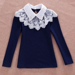 Girls Cotton Long Sleeve Formal Shirts