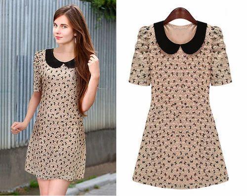 Ladies Short Dresses - Ladies Floral Dress Manufacturer from Trichur