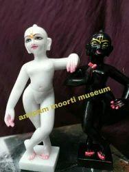 Krishna Balram Marble Statue.