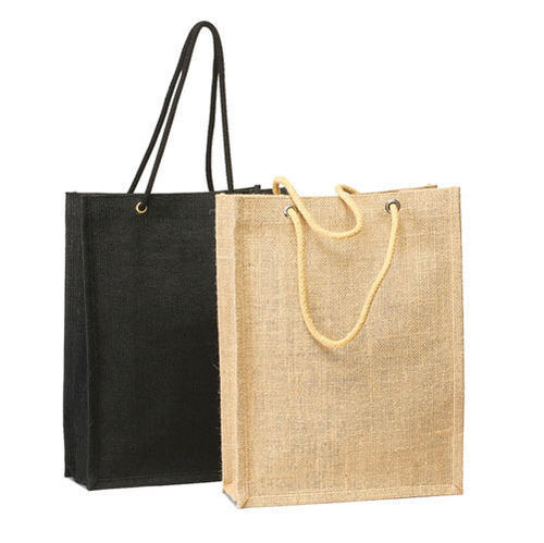 Earthyybags Custom Jute Shopping Bag With Rope Handle, 40 Cm, For Promotion/Shopping/Beach/Gift
