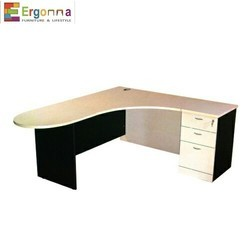 Wooden L Shape Executive Table