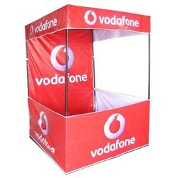Red and White Printed Vodafone Canopy Tent, for Advertising