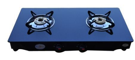 Two Burner Glass Top Sparkle Gas Stove