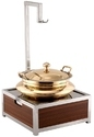 Heritage Brass Chafing Dish, Usage/application: Hotel