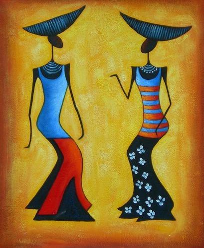 Two Ladies Modern Art Paintings. Two Ladies Modern Art Paintings at Rs 1000  piece   Modern Art