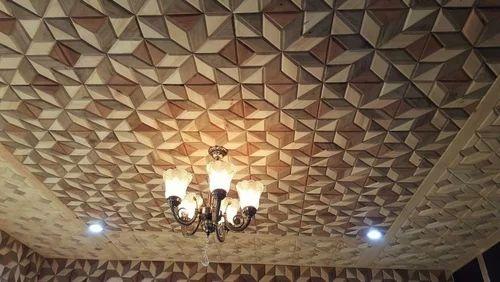 Wooden Ceiling Design In Eidgah Ganderpora Srinagar Id 12713938412