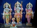 Marble Ram Darbar Statue With Das Hanuman