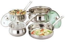 Rajwadi Cookware Set with Steel Handle