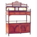 Brown Teak & Rosewood Arts And Craft Style Side Board Furniture