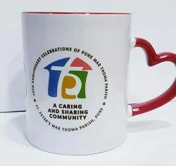 Multiple Ceramic Heart Handle Coffee Mug