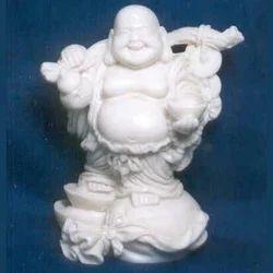 Buddha Monk In Resin Laughing Buddha 1