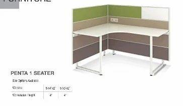 Godrej Office Furniture Table Workstation Penta 1 Seater At Rs