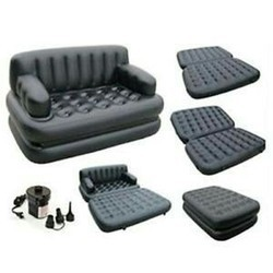 PU Leather Modern 5 in 1 Black Sofa Beds, For Home