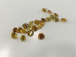 Yellow Color Treated Round Brilliant Cut Diamonds