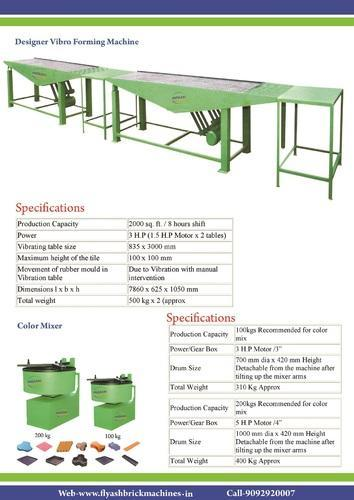 Designer Tile Vibrator Table Paver Block Making Machines