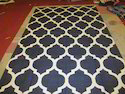Cotton Black And White Rug Durry