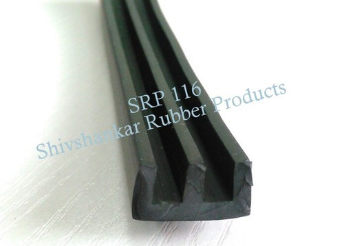 Shivshankar Rubber Products Black EPDM W Type Aluminium Section Gasket, Size: 15mm To 3000mm