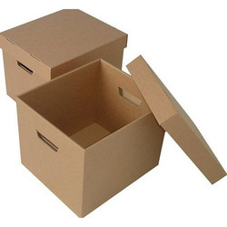 Single or Double Kraft Paper Brown Corrugated Boxes, Ply: 1-7, Box Capacity: 5-10 kg