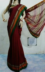 Handloom Mercerised Cotton Saree