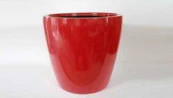 Red Round Fiberglass Planters, For Plantation