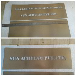 Poly Laminated Oil Stencil Boards