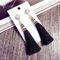 Elegant Black Tassel Earring