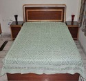 Indian Applique Cut Work Bed Cover