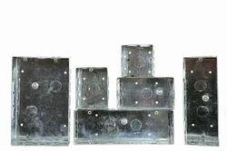 Galvanised Iron Modular Metal Box, For Electric Fitting, Module Size: 3-Module