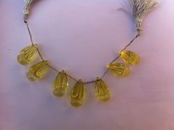 Bulb Shaped Beads of Lemon Topaz