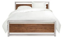 Stainless Steel Wooden Bed