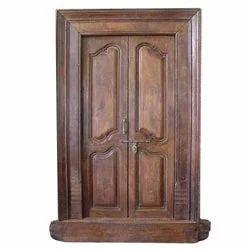 Teakwood Designed Door