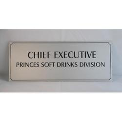 Steel Anodised Name Plate
