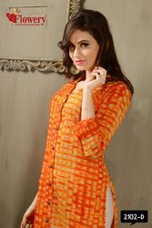 Knee Length Printed Cotton Kurti