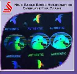 Nine Eagle Birds Holographic Overlays For Cards