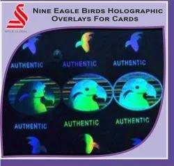 Nine Eagle Birds Holographic Overlays For Cards