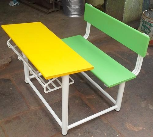 color full dual school desk at rs 3000 unit dohri desk wali bench