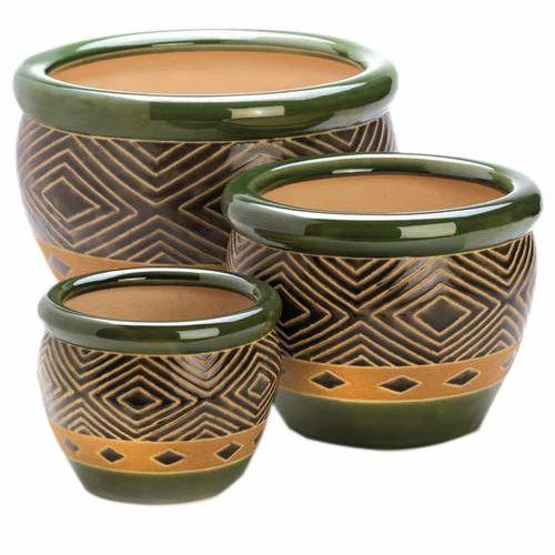 Ceramic Flower Pot Set  sc 1 st  IndiaMART & Ceramic Flower Pot Set चीनी मिट्टी का फूलदान ...