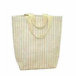 Natural Stripe Jute Handbag
